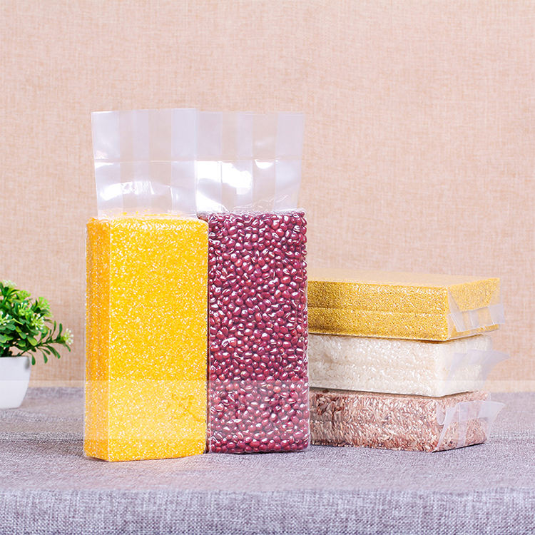 Plastic Print Logo Food Grade Back Seal Side Gusset Plastic Pouch Bag
