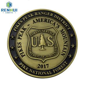 Cheap Custom Token US Army Trump Biden 3D Gold Challenge Coin Silver Gold Plated Metal Stamping Coins With Printing Logos