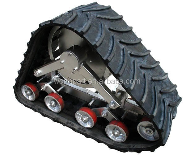 1 tons rubber track chassis undercarriage
