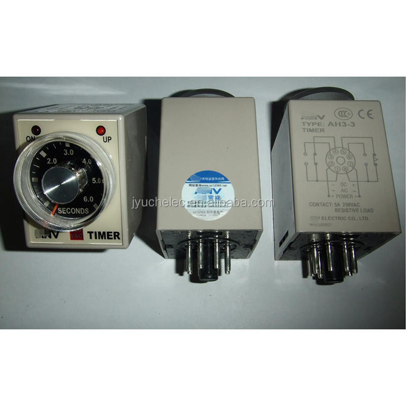 24VAC 10 S 8 bornes gamme réglable Delay Timer Time Relais AH3-3 W Base