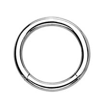 Seamless Hinged Segment Clicker Ring Hoop Ear Lip Septum Piercing