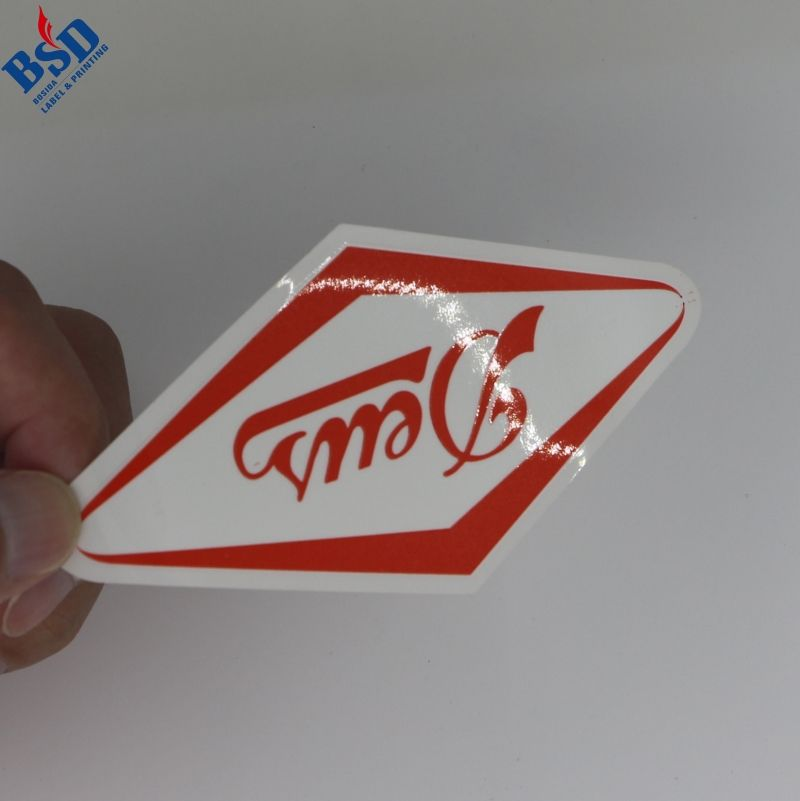 High quality plastic sticker printing and decorative stickers and logo stickers