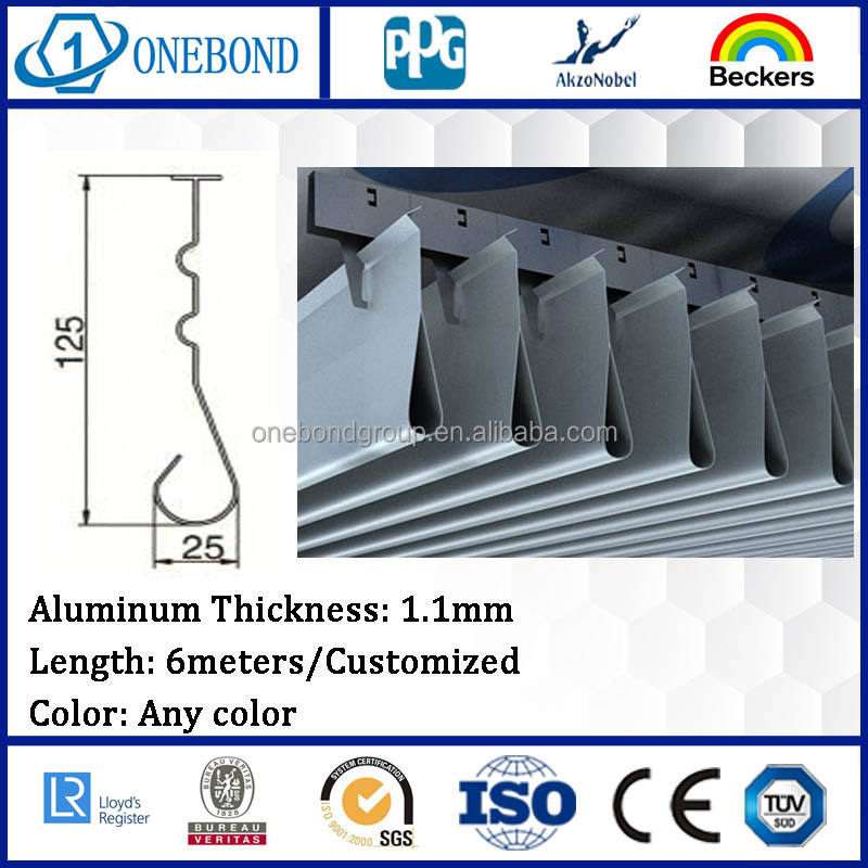Quality assured metal flexible acoustic ceiling panel aluminum plate