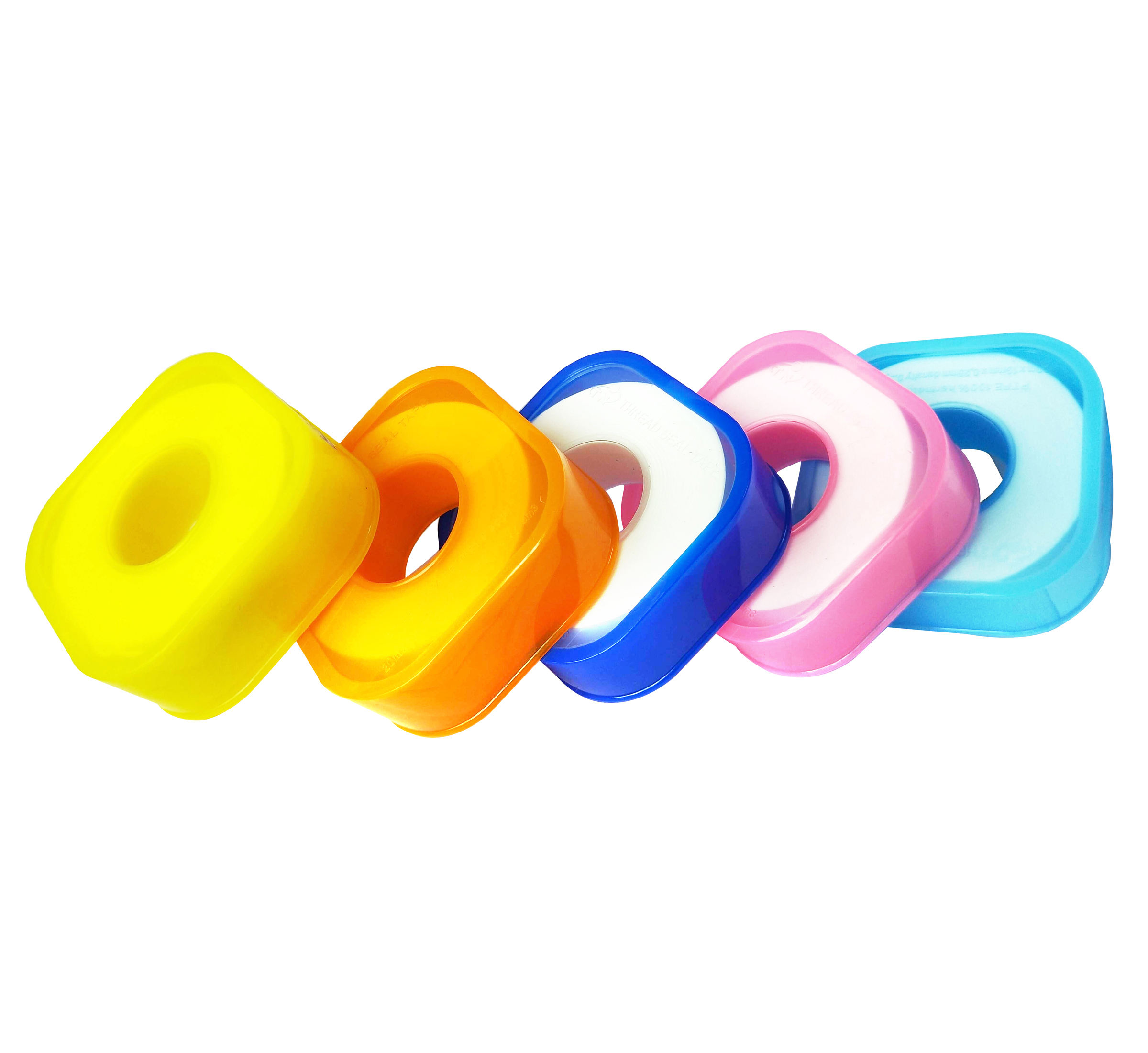 Taflon Seal Tape 0.075 Mm Tebal Kepadatan Tinggi Warna Kuning Tape Gas