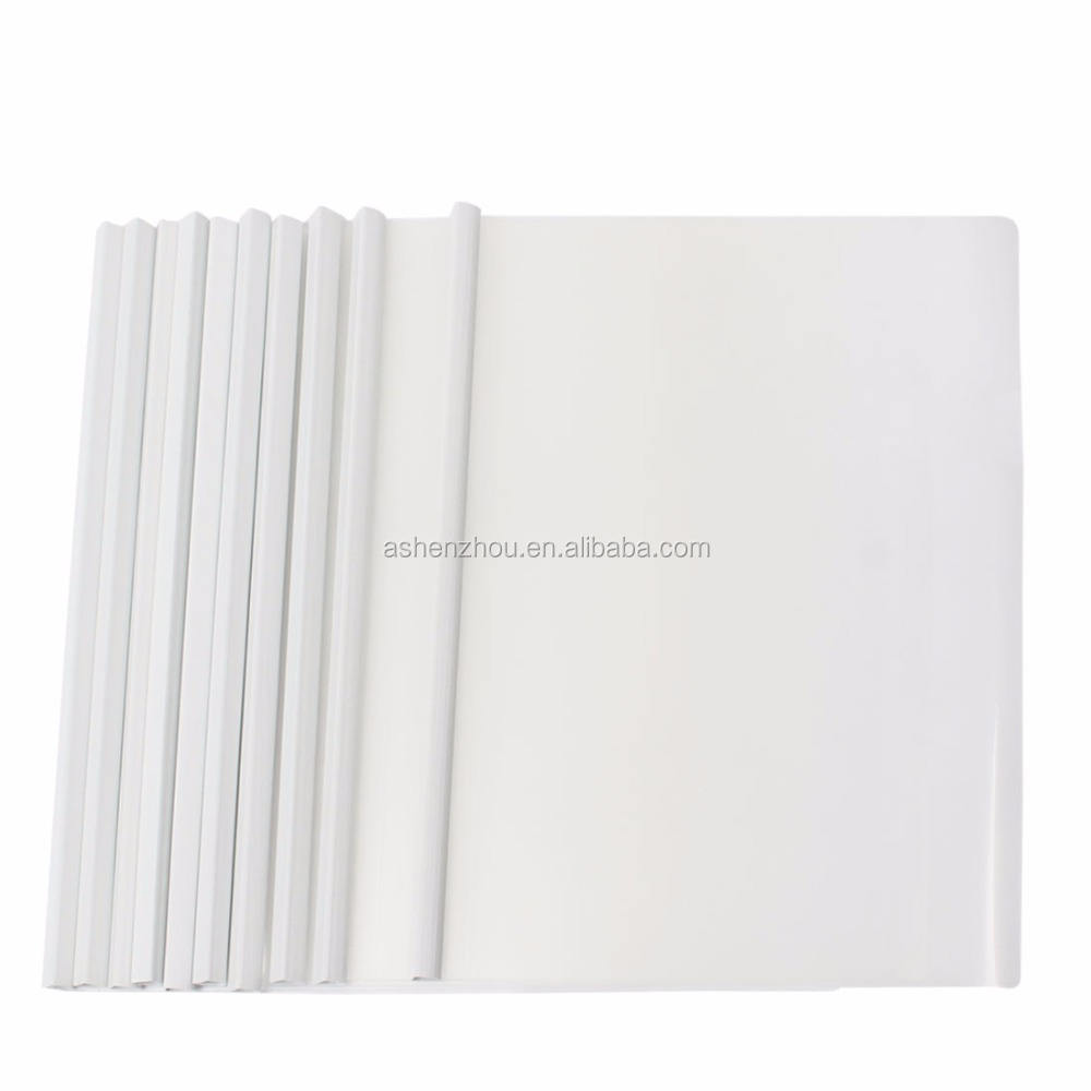Eco friendly custom printed clear plastic PVC slide binder L shape folder