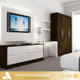 2018 Hangzhou Vermont Modern Design Hotel Lcd Wooden TV Cabinet Wall Units Table
