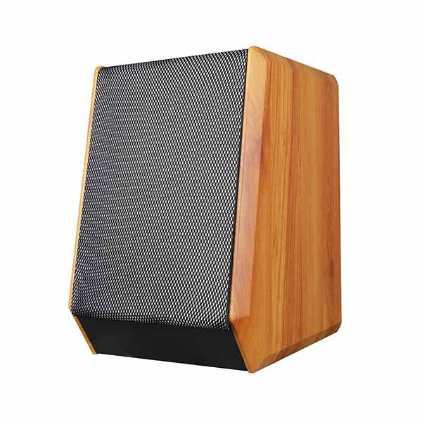 China supplier wooden super bass USB SD MMC card stereo 2ch built-in amplifier Hi-Fi blue tooth speaker