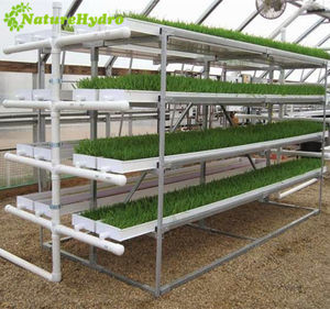 Advanced hydroponic fodder machine microgreens trays system