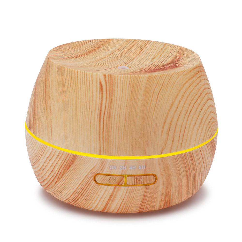 2020 Korean Wood Grain Humidifier 300Ml Night Light Air Difuser Automatic Aromatherapy Aroma Diffuser