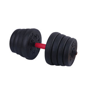 Gym equipment fixed round dumbbells wholesale PVC Steel pipe adjustable dumbbell set