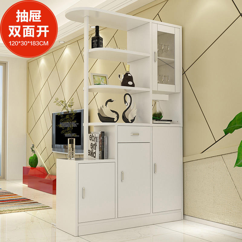 Simple White Cheap Dining Room Wine Display Cabinet Design Wine cabinet 120*30*183cm