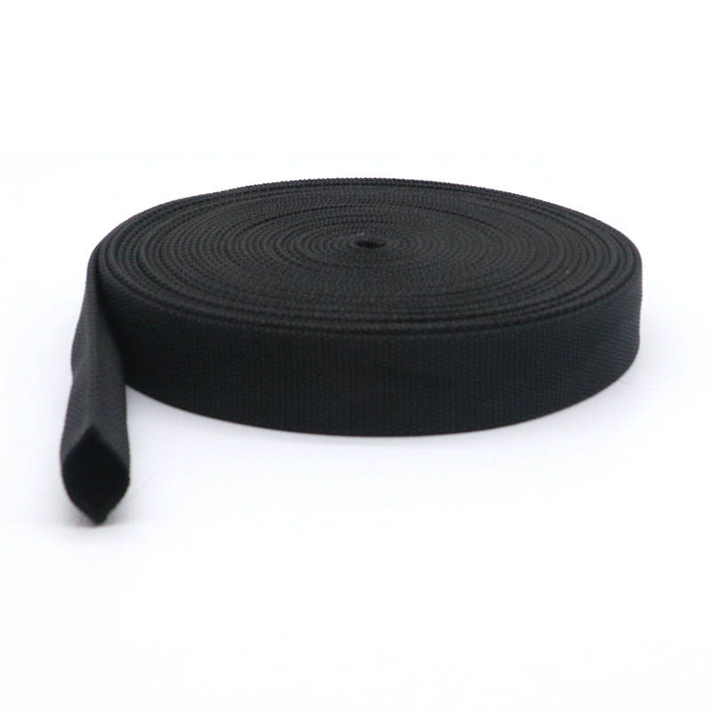Wholesale 1 inch 1.5 inch 2 inch black 100% nylon tubular webbing