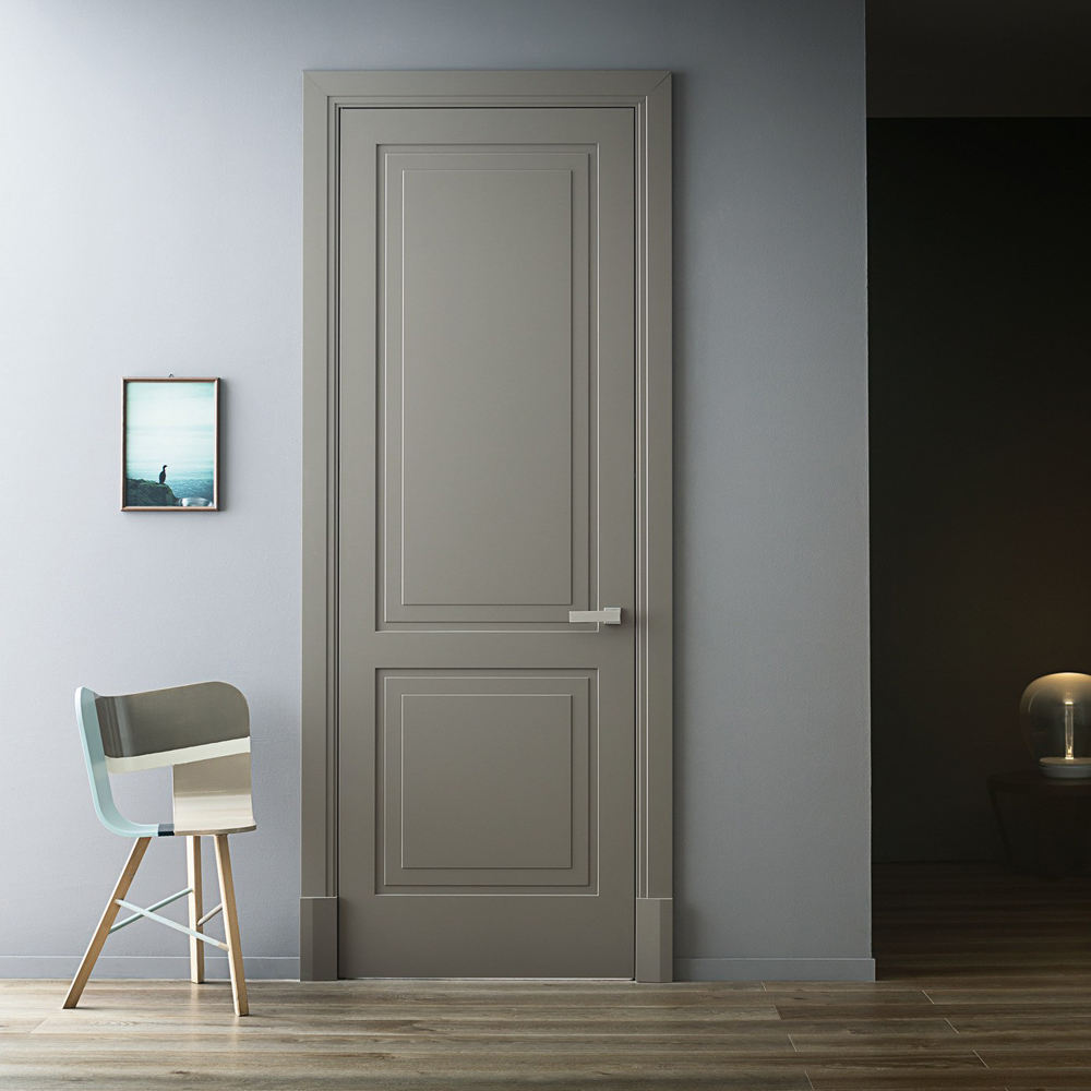 2 Panel Solid White Painted Interior Doors, White Hotel Room Door