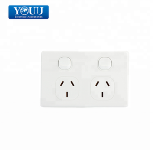 Youu 10A Soket Listrik Stopkontak Dinding dan Switch Outlet Double Power Titik Saklar