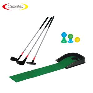 Outdoor gioco di golf giocattoli mini kid golf toy set con 3 palle