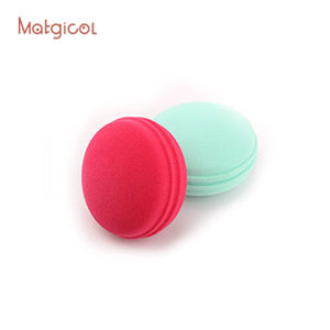 Macaron shape makeup powder puff washable soft latex free cosmetic blender esponjas