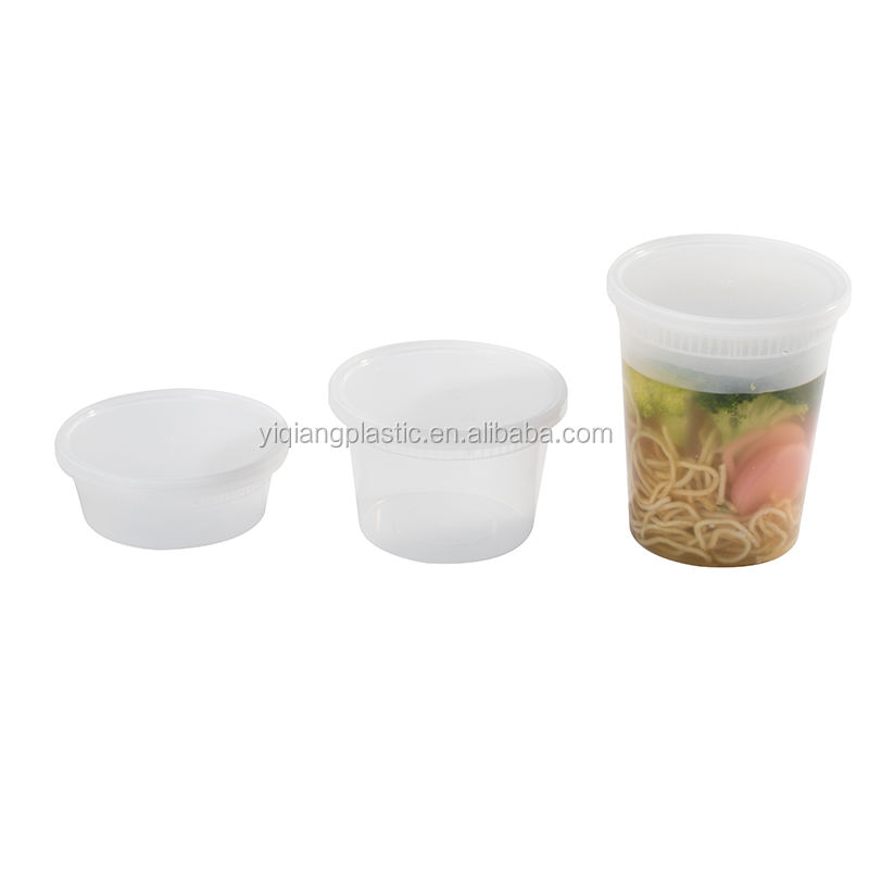 Food grade pp injection plastic soup container with lid 32oz