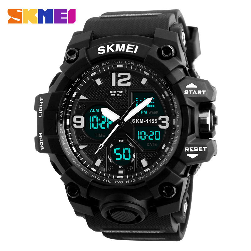 Mens Digital Watches China Skmei Men's Sports Quartz Analog Digital Watch With Japan Movement