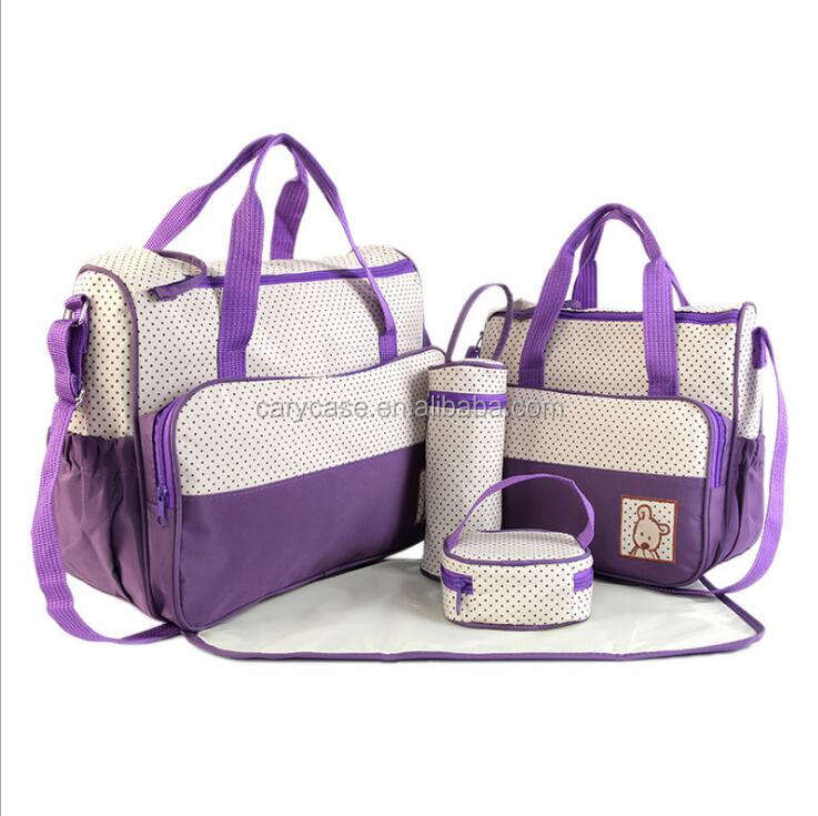 5PCS SET CHEAP Fashion Mummy Maternity Nappy Bag