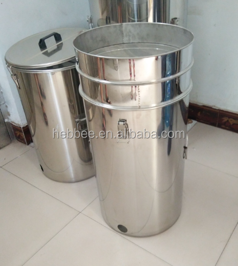 HONEY TANK WITH DOUBLE SIEVE 304 STAINLESS STEEL HONEY CONTAINER