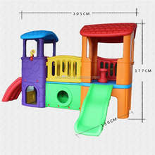 Colorful play kids' indoor plastic play set curved slide playground kids funny slides