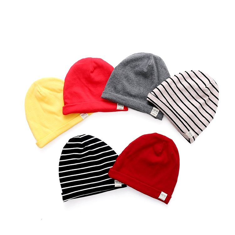 New Design Custom 100% Cotton Kids Knitted Hats/Baby Winter Beanie Cap