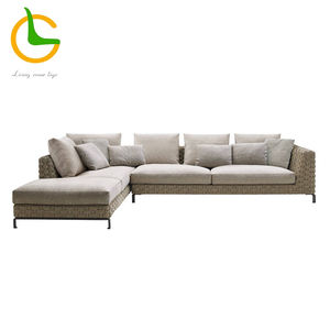 High quality wholesale new design european style rope woven sectional livingroomsofas