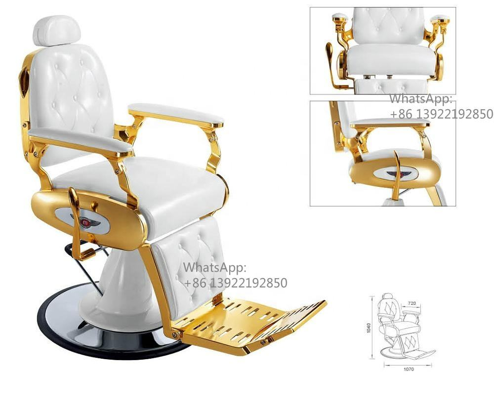 Gold chrome vintage antique barber chair ZY-BC8834A
