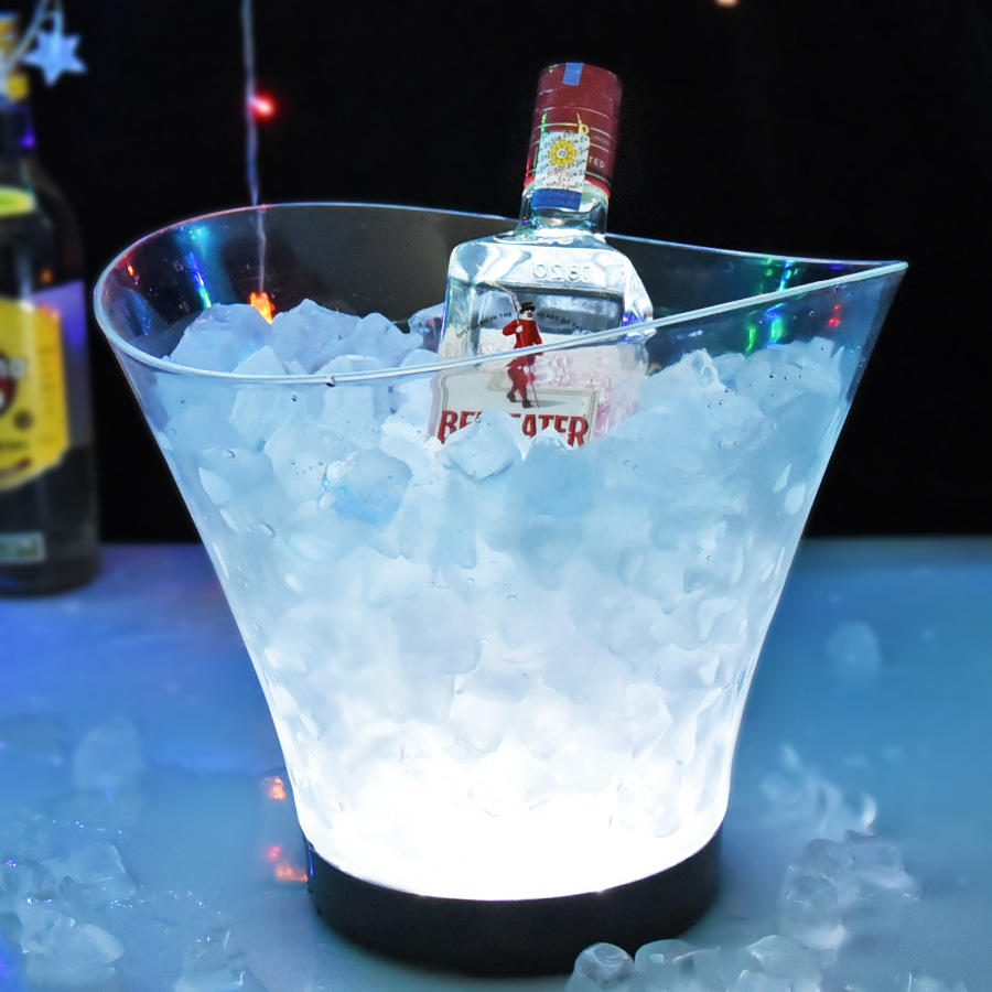 Manufacturer ISO9001 BSCI beer whisky vodka brandy rum night club ice bucket led light plastic