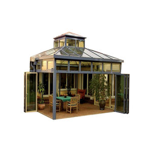 Modern design aluminum profile lowes aluminum glass sunroom