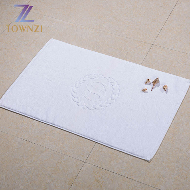 Standar Ukuran 50*80 Cm Cotton Bath Mat Putih Terry Cotton Bath Mat Set