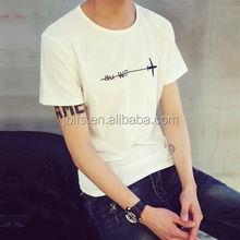 latest O-neck customized fashion men t-shirt