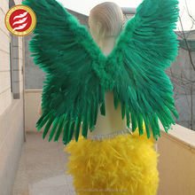 Green Feather Angel Wings Crafts Plastic Chicken Wings