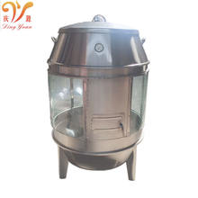 Chinese stainless steel charcoal roast duck oven for restaurant big roaster