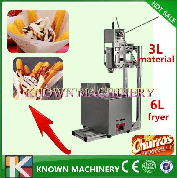 Rvs gas churros friteuse/churros machine voor verkoop