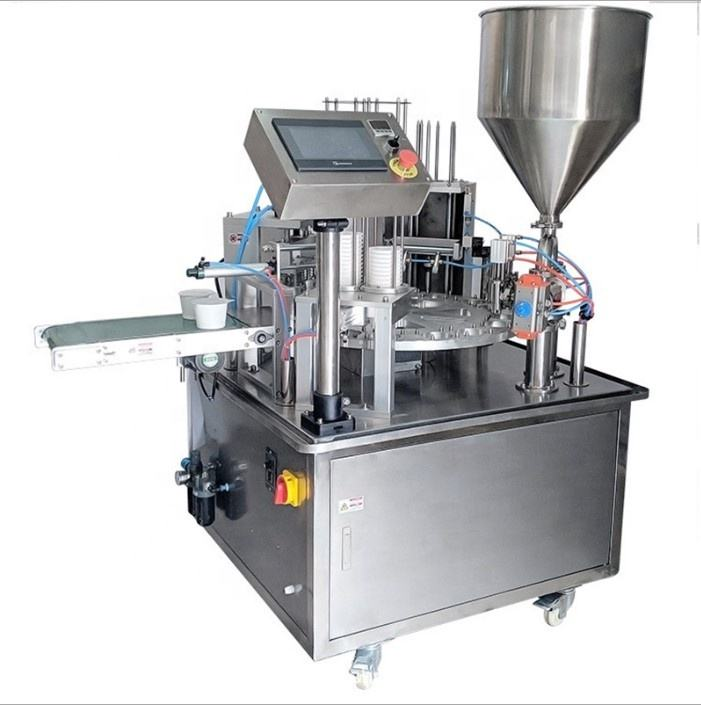 FP-300 rotary yogurt grese cup filling and sealing machine