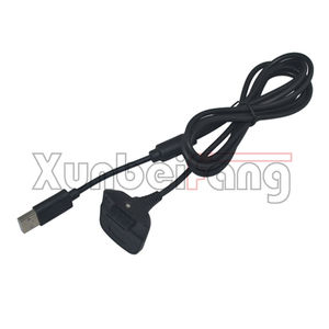 USB Charging Cable for Xbox 360 Wireless Controller Black