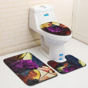 Reasonable Price African Woman Bath Mat Set 3Pcs Carpet Non-slip Bathroom Rug Set For Toilet