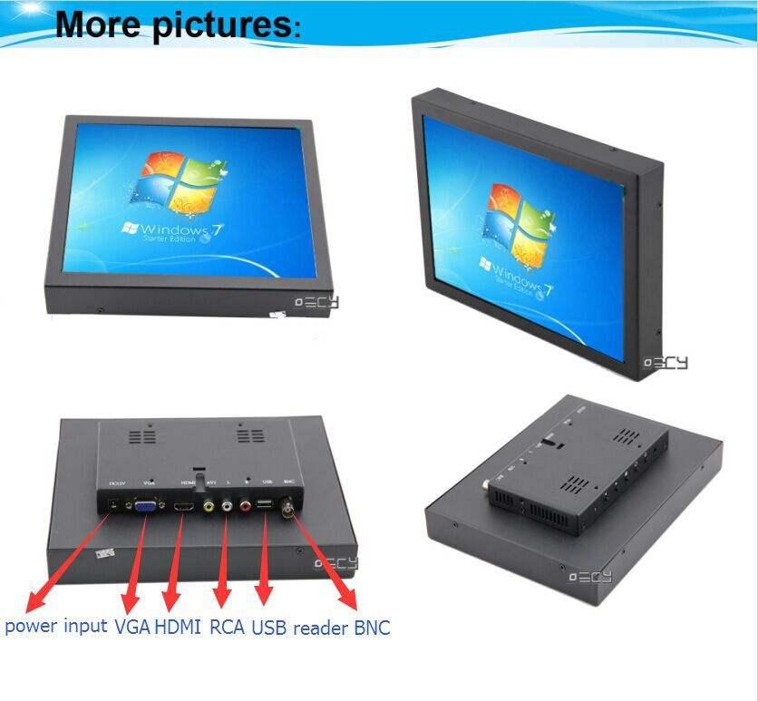 Водонепроницаемый / всепогодный особенности 10 дюймов жк-монитор видеонаблюдения