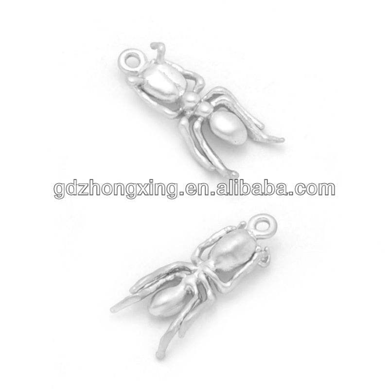 silver ANT charm , imitation jewellery in brass, jewelry fahsion wholesale in China