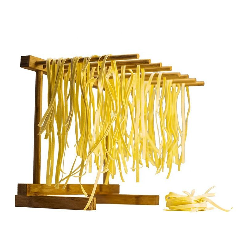 Eco-friendly kitchen food dry rack Wooden Bamboo Pasta Drying Rack