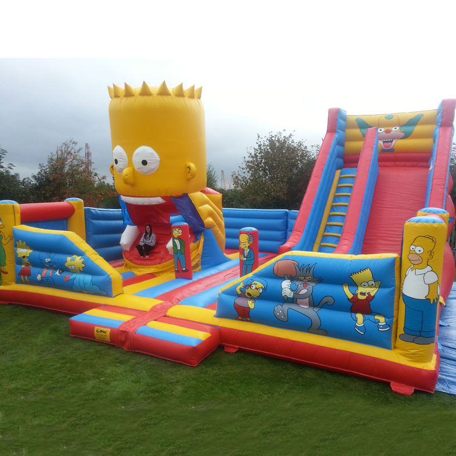 Guangzhou cheap commercial jumping castle outdoor inflatable bouncer slide large playground
