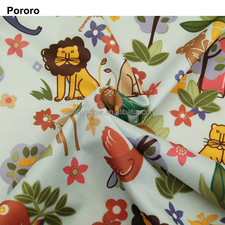 customized digital printed waterproof PUL fabric for cloth diapers