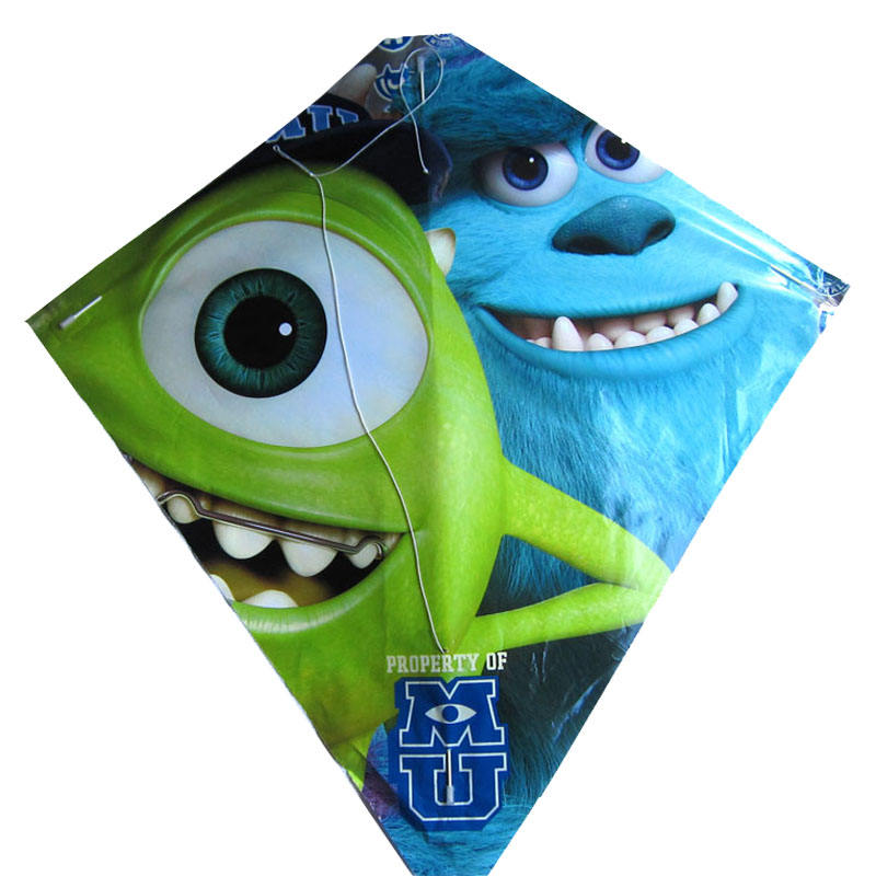 promotional fashion cartoon plastic kite diamond kite