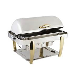 CheapIndian 9L economic oval stainless steel gold plated food warmer chafing dish