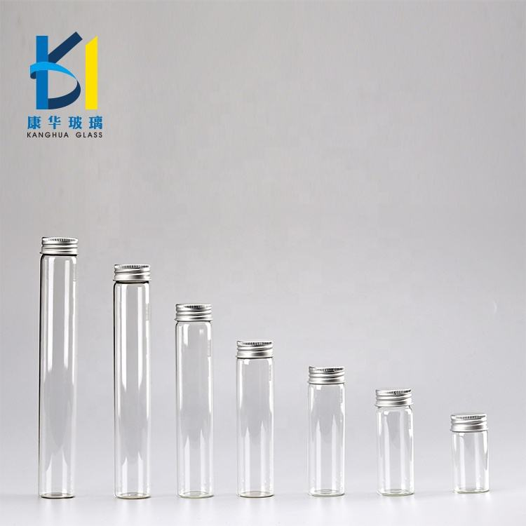 High Quality Tube Clear Recycled Metal Lid Glass Bottle 30ml Screw Or Cork 100ml 110ml