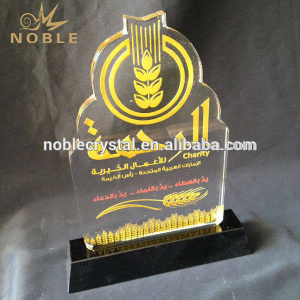 Wholesale Custom Engraved Crystal Trophy Arabic Gifts Made in Dubai