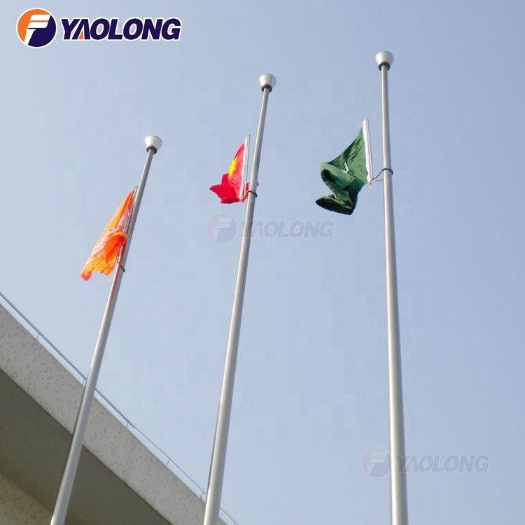 Nylon [ Garden Flag ] Aluminium Pole Flags Design Outdoor Metal Garden Automatic Raise 15m Spinning Aluminum Flag Pole