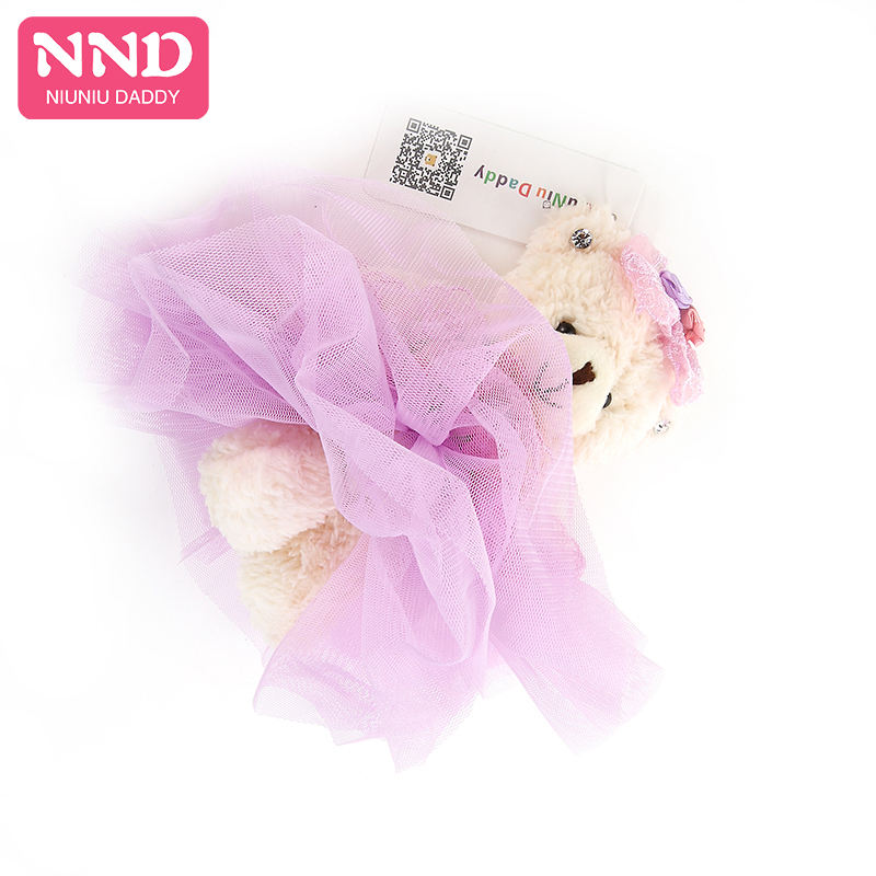Free Shipping Small15cm Teddy Bear Plush Toys Stuffed Animal Doll High Quality Clothing for Wedding Girl Best Gift Niuniu Daddy