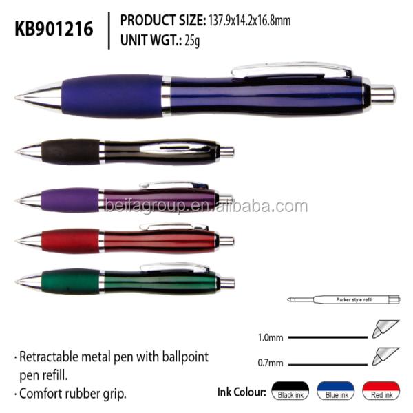 KB901216 NingBo BEIFA confort <span class=keywords><strong>stylo</strong></span> en métal avec poignée en caoutchouc